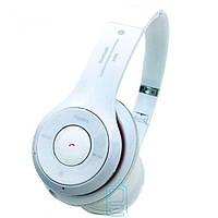 Bluetooth наушники с микрофоном MP3 FM S460 белые