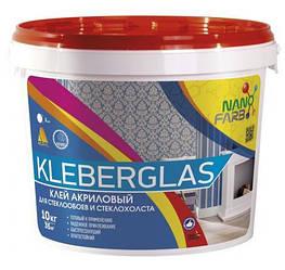Клей для склошпалер і склополотна Kleberglas Nano farb 10 кг