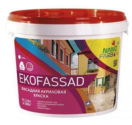 Акрилова фасадна фарба Ekofassad Nano farb 14 кг