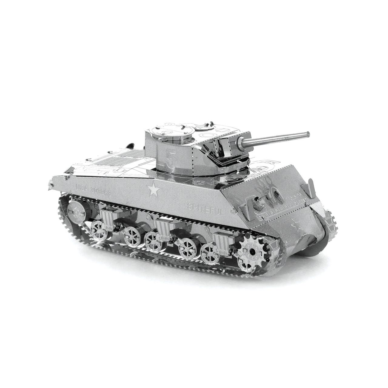 Металлическая сборная 3D модель Танк Sherman