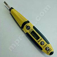 Электронная индикаторная отвертка детектор напряжения YINTE YT-0419  (AC/DC 12-240В) с прозвонкой (MR0143)