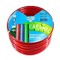 Шланг поливочный Presto-PS силикон садовый Caramel (красный) диаметр 3/4 дюйма, длина 50 м (SE-3/4 50), фото 1