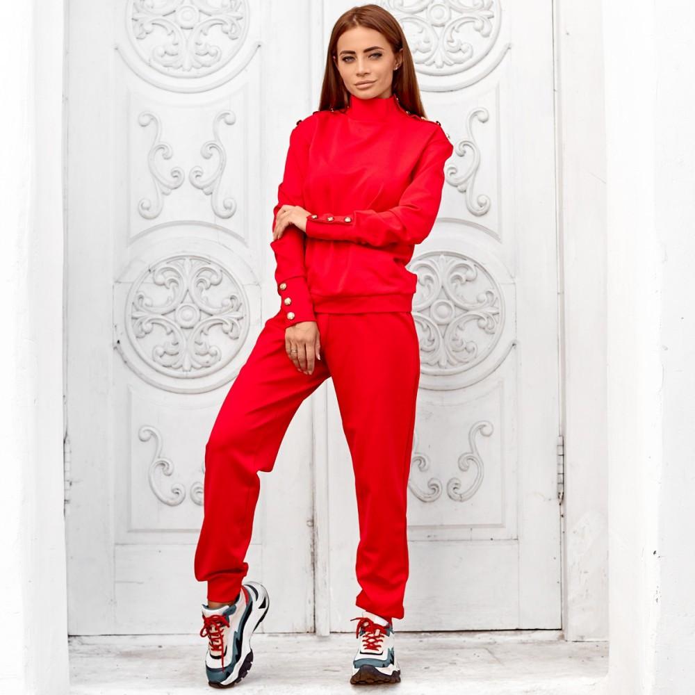 Женский спортивный костюм красный