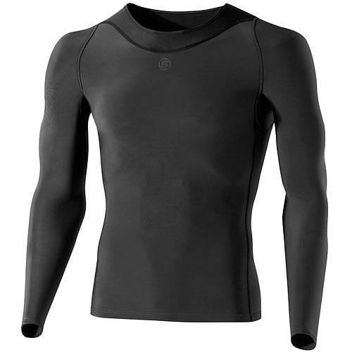Кофта восстанавливающая Skins RY400 Mens Long Sleeve top, B43039005, темно-серый. Оригинал