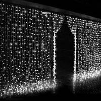 Светодиодная новогодняя гирлянда штора водопад белый .2*2 метр.