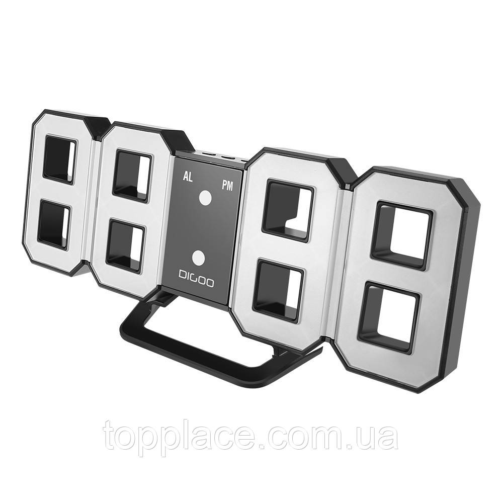 Настольные электронные 3D LED часы с будильником