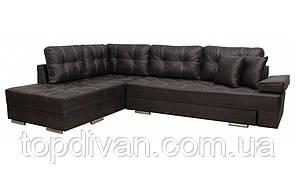 """Кутовий диван """"Прінстон"""". Амелі шоколад. Габарити: 2,95 х 2,10 Спальне місце: 2,00 х 1,60"""