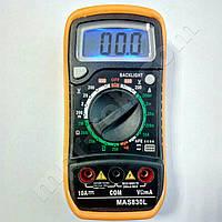 Цифровой мультиметр MAS830L (600В, 10А, 2МОм, hFE, звуковая индикация) (MR0326)