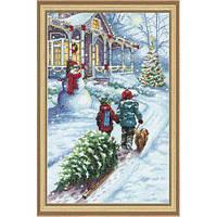 Набор для вышивки крестиком Рождественская традиция 22.8x35.5 см Dimensions