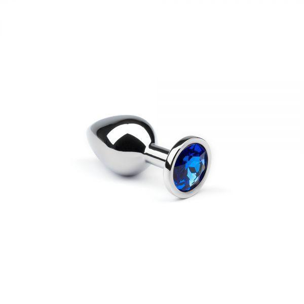 Анальная пробка утяжеленная, Silver Sapphire, S