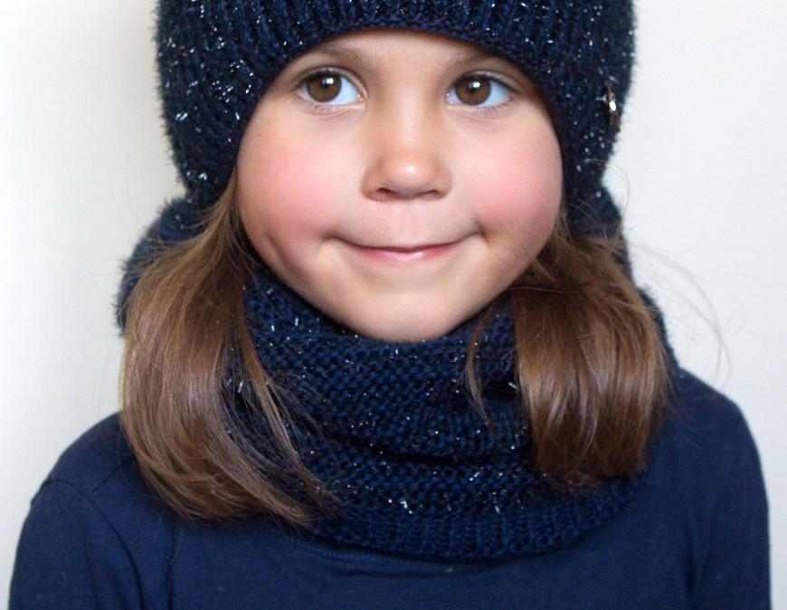 №117 Зимний шарф-хомут Фея. Внутри на флисе. Фуксия, т.синий, черный с бронзой, св.сер, красный , пудра