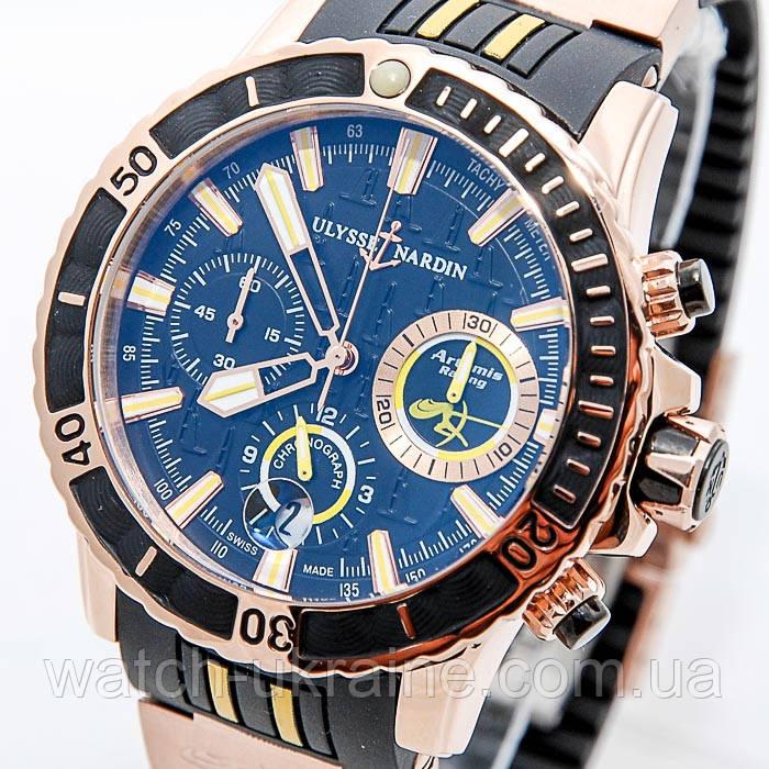 Часы ULYSSE NARDIN Diver Chronograph Hammerhead Shark Quartz.Класс ААА