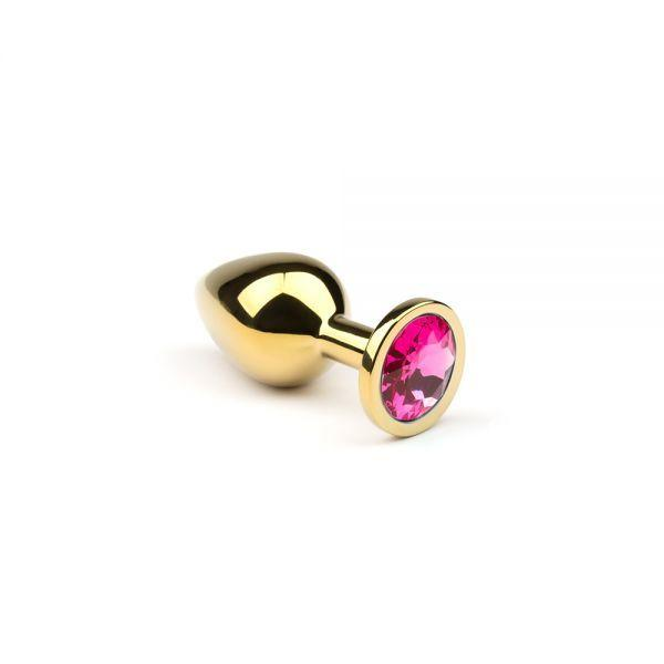 Анальная пробка,Gold Pink-Rhodolite,S