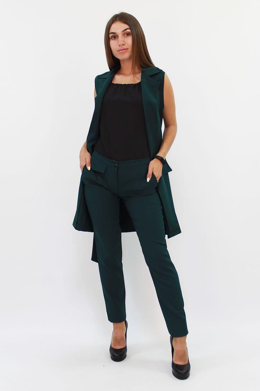 (S, M, L, XL) Жіночий зелений брючний костюм