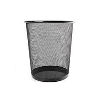 Корзина-сетка для бумаг R85726 офисная, металл, 30*33см, черный, мусорное ведро, ведро для мусора, ведра, урна, ведро для бумаги