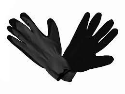 Перчатки рабочие стрейч черный, залитые (дачные).