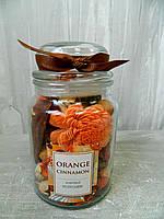 Комплект ароматичний в банці Orange Cinnamon 16 см Комплект ароматический в банке