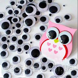 (10 грамм,d=8мм) Подвижные глазки для игрушек d=8мм (прим.200-220 глазок) (сп7нг-1377)