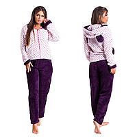 Махровый домашний костюм - пижама с ушками (р.42-46,46-48)