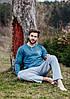 Чоловіча піжама на довгий рукав KEY MNS-700, фото 4