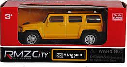 Коллекционная машинка 7 см Hummer H3 (желтый) 1:64. Uni-Fortune 354008-1
