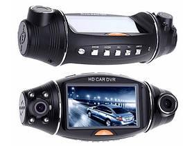 Автомобильный видеорегистратор R310 GPS 2 камеры