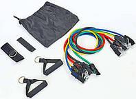 Эспандеры Бубновского 5 жгутов для фитнеса и реабилитации (жгуты, рукоятки, манжета, фиксатор, чехол)
