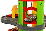 Детский игровой гараж парковка.ПАРКОВКА / ГАРАЖ 3-х УРОВЕНЬ С ЭЛЕКТРОННЫМ МОДУЛЕМ + 6 АВТОМОБИЛЕЙ, фото 5