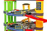 Детский игровой гараж парковка.ПАРКОВКА / ГАРАЖ 3-х УРОВЕНЬ С ЭЛЕКТРОННЫМ МОДУЛЕМ + 6 АВТОМОБИЛЕЙ, фото 9