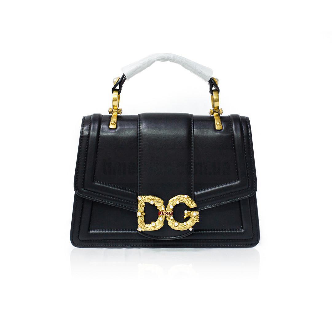 Сумка на плечевом ремне DG AMORE от Dolce & Gabbana Чёрная AAA Copy