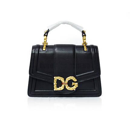 Сумка на плечевом ремне DG AMORE от Dolce & Gabbana Чёрная AAA Copy, фото 2