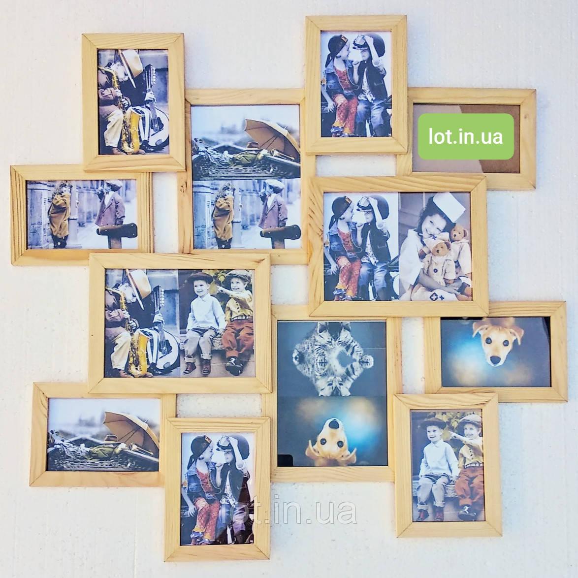 Мультирамка Lot 212, дерево, бесцветный, белый, чёрный, орех, венге, серый.