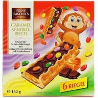 Печиво з карамельно-шоколадною начинкою Feiny Biscuits caramel schoko-snack 162 г