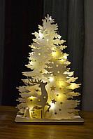 Декор светильник новогодний из дерева.