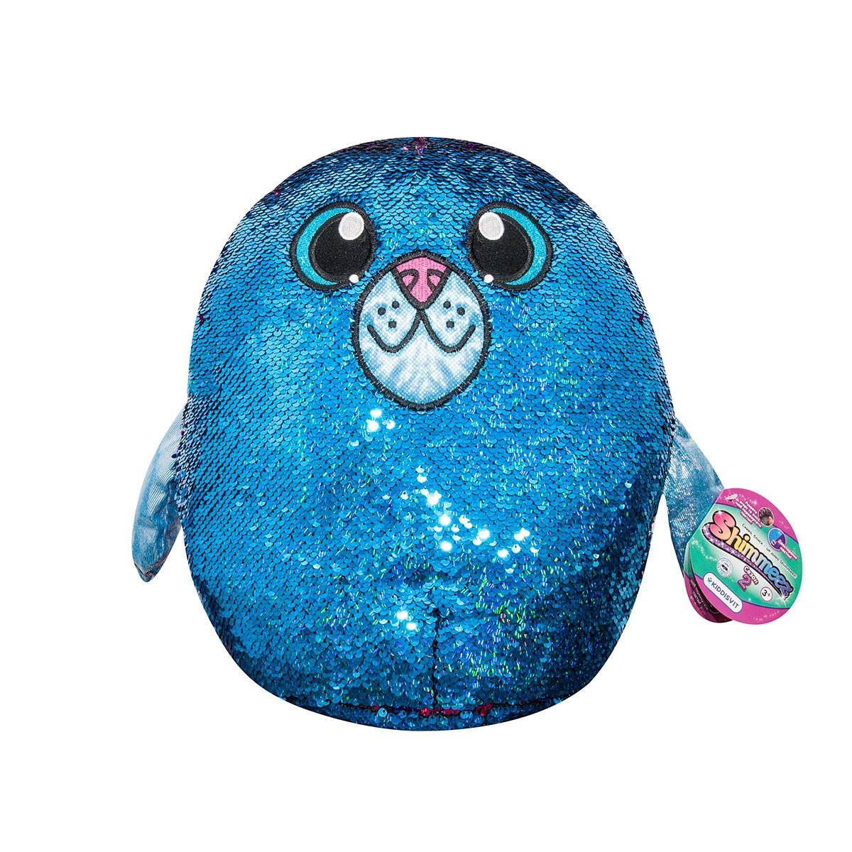 М'яка Іграшка з паєтками Shimmeez S2 - Тюлень Аква, 36 см