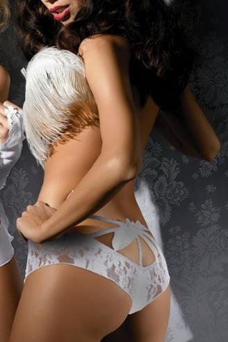 Эротические кружевные трусики-шортики | эротическое белье Anais Nelly Белый