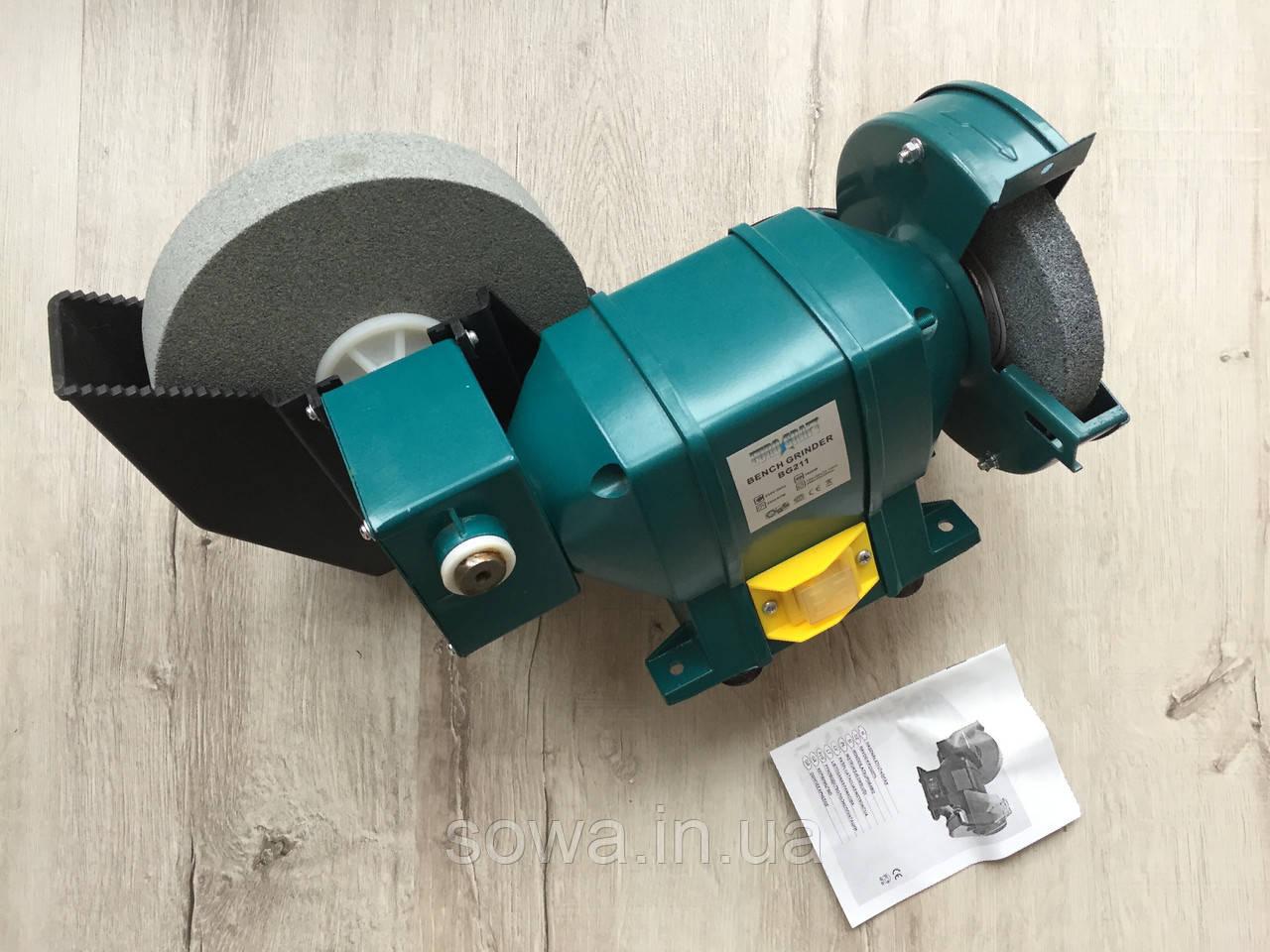 ✔️ Точильний верстат Euro Craft BG211 (1600Вт, 150-200мм коло )