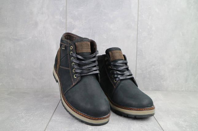 Мужские ботинки кожаные зимние черные Falcon 6220, фото 2