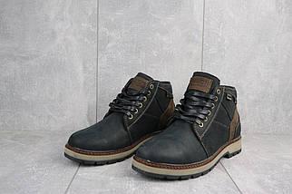 Мужские ботинки кожаные зимние черные Falcon 6220, фото 3