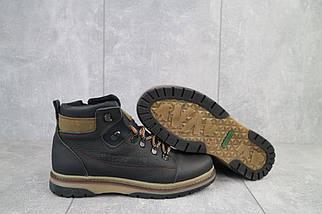 Подростковые ботинки кожаные зимние черные-оливковые CrosSAV 322, фото 2