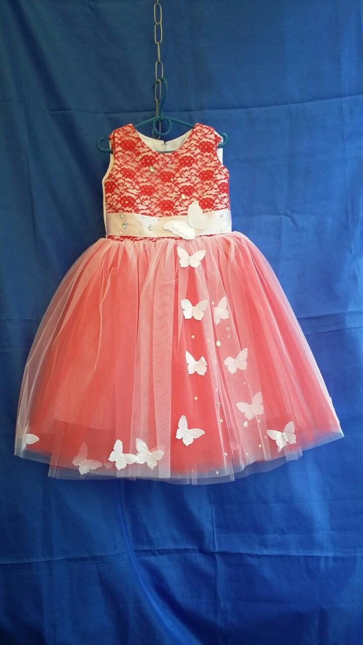 Дитяче плаття нарядне Метелики р. 3-4 років опт