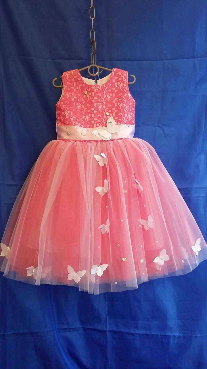 Детское платье нарядное Бабочки р. 3-4 лет опт