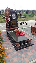 Елітні памятники з чорного граніту на могилу для чоловіка