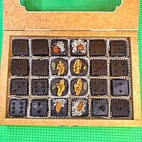 Шоколадные конфеты БЕЗ САХАРА в форме Домино с орехами и сухофруктами 500 г