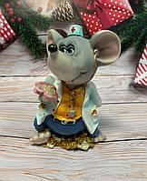 Копилка, статуэтка Мышка Врач. Символ 2020 года
