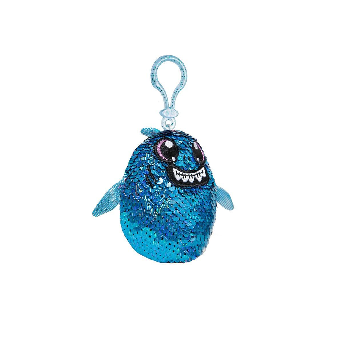 М'яка Іграшка з паєтками Shimmeez S2 - Акула Зубастик (9 см, на клипсі)