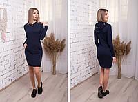 Модне трикотажне приталену сукню в спортивному стилі з капюшоном і кишенею кенгуру. Арт-2477/15, фото 1