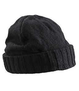 Трикотажная шапка с краем U, MBLK Чёрный