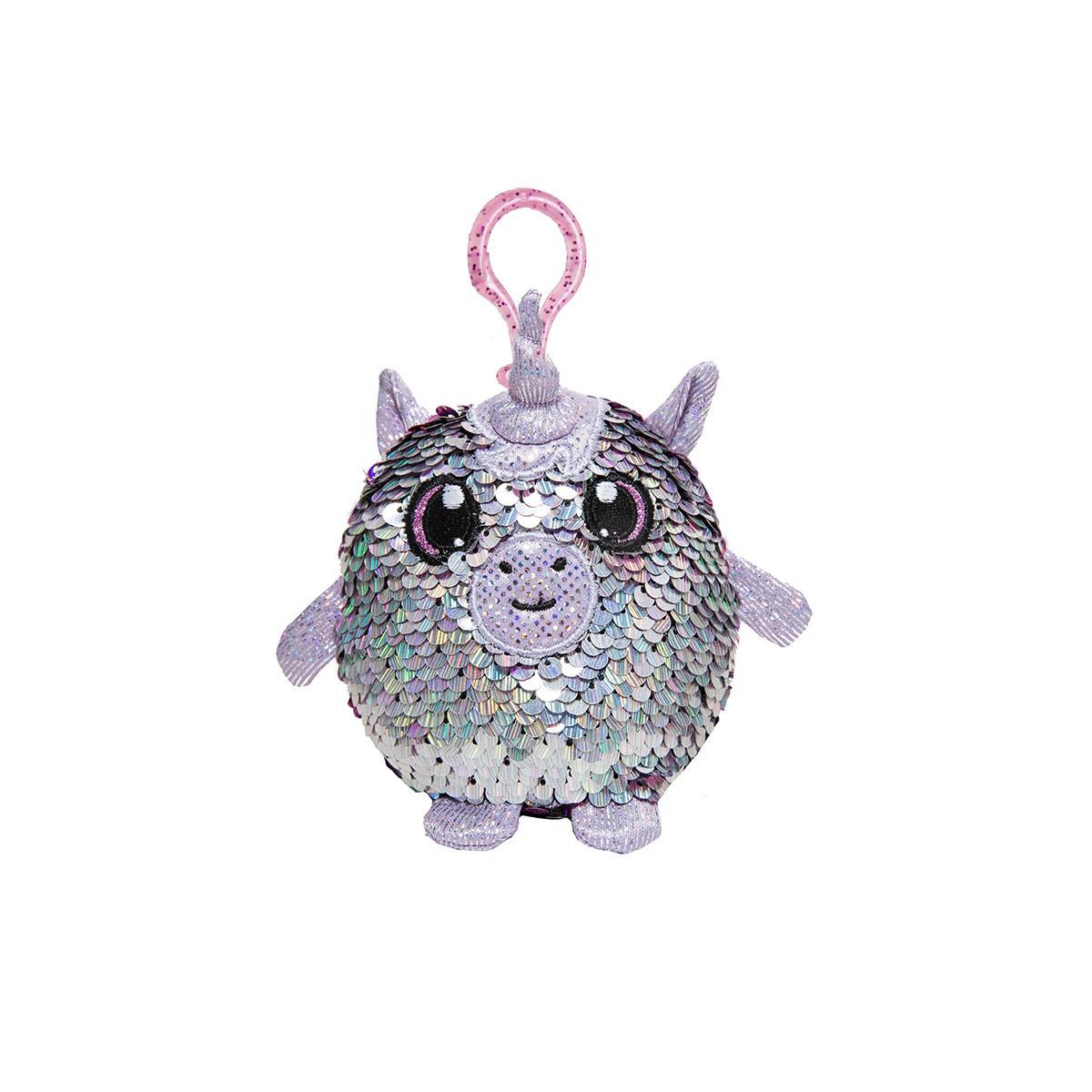М'яка Іграшка з паєтками Shimmeez S2 - Мрійливий Єдиноріг (9 см, на клипсі)
