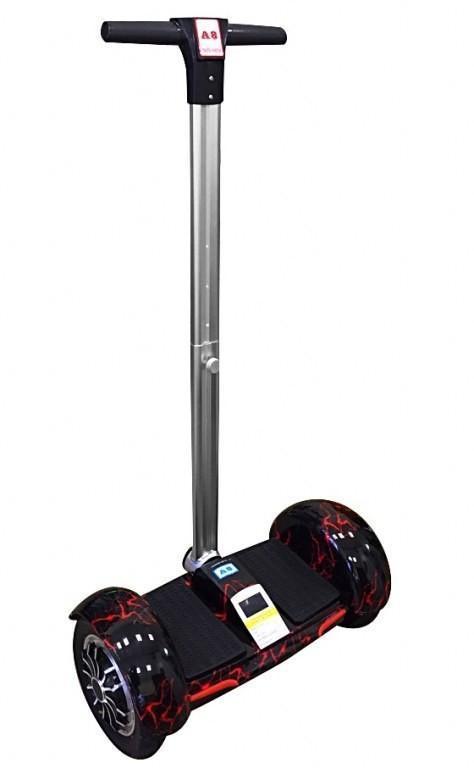 """Гироскутер A8 с ручкой 10"""" №8 BT + APP + Автобаланс с АКБ Samsung"""